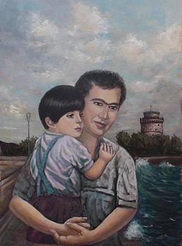 My son and I  by Charalampos Laskaris