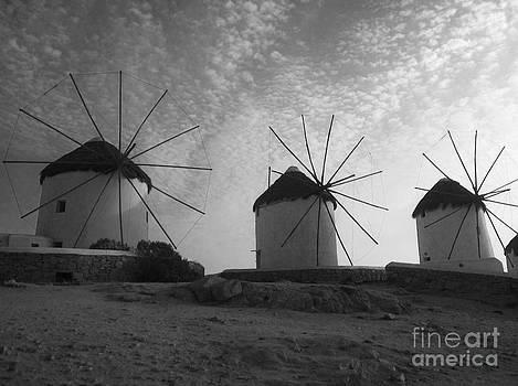 Mykonos Windmills by Leslie Leda