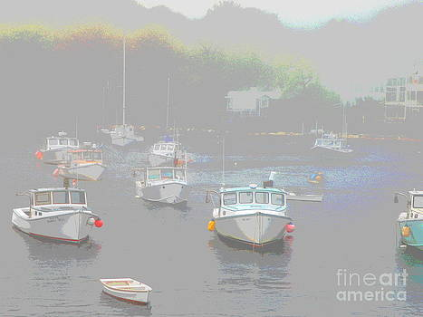 Mystic Maine Lobster Boats by Christy Bruna