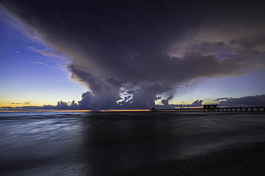 Naples Pier Thunder Storm by Nick  Shirghio