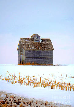 Christine Belt - Nebraska Barn in Winter No.2