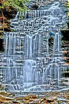 Adam Jewell - Neon Blue Vertical Falls