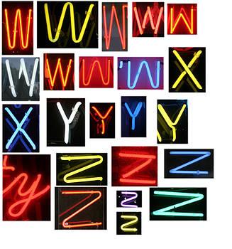 Michael Ledray - Neon sign series W through Z