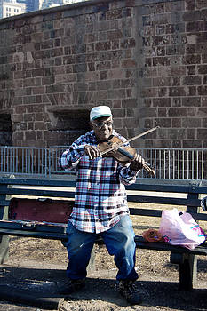 New York Violinist by Simon Clare