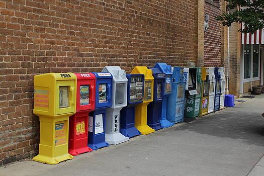 Newspaper Boxes by Bob Whitt