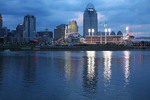 Night Game - Cincinnati Great American Ball park by Anthony Wilder