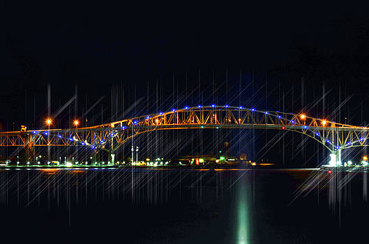 Night time Bridges by Cheryl Cencich