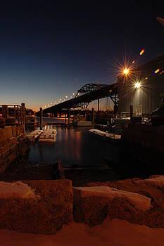 Night Tiverton Bridge by Rafael Figueroa