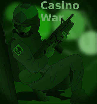 Night Vision Casino War Warrior by Casino Artist
