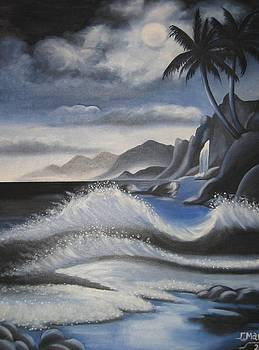 Nigth at sea by Joanna Marouli