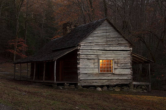 Noah Bud Ogles Cabin by Larry Lynch