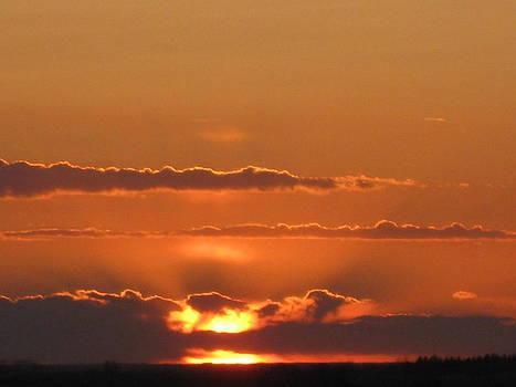 North Dakota Sunset by Trish Pitts