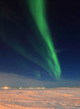 Northern Lights Over Tundra by Wyatt Rivard