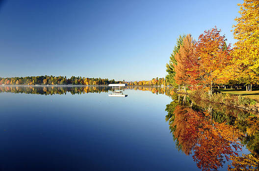 Northwoods Fall Reflection by RJ Martens