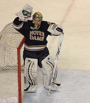 Notre Dame Hockey Goalie by Sam Amato