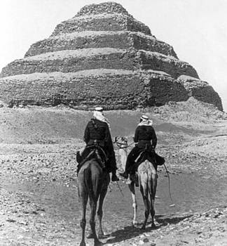 Nubian Soldiers Passing the Step Pyramid - Egypt - c 1896 by International  Images