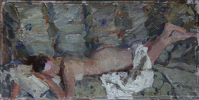 Nude in silver by Korobkin Anatoly