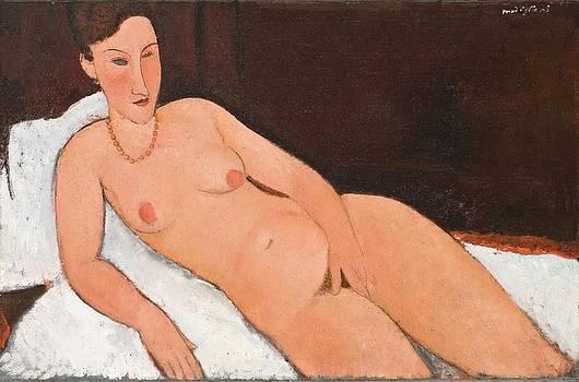 Amedo Modigiani - Nude with Coral Necklace