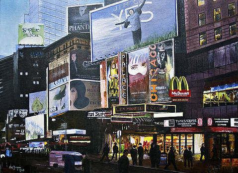 NY NY At Dusk by Stuart B Yaeger