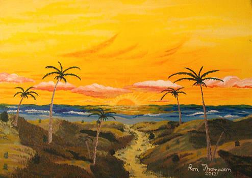 Ocean Beach Sunset by Ron Thompson