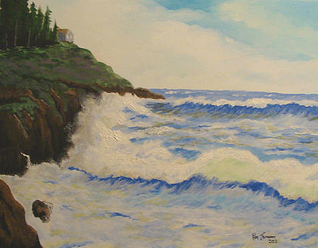 Ocean Cliffs by Ron Thompson