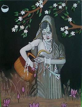 Oil Painting...a Lady With Pitcher by Priyanka Rastogi