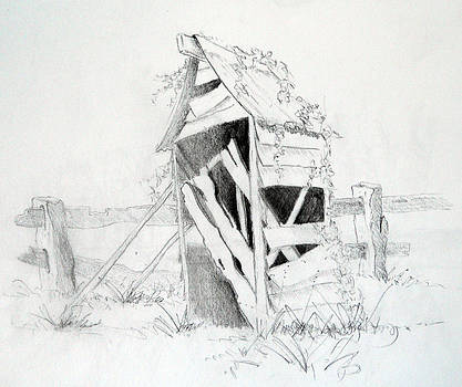Old Aussie Outhouse by Carol McLagan