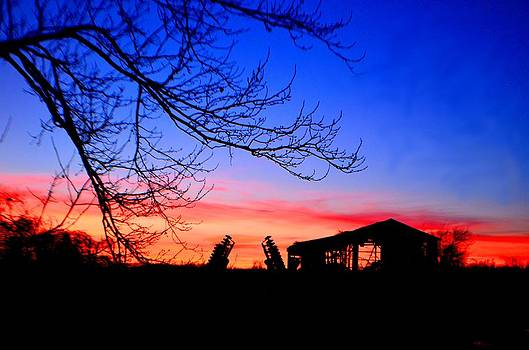 Old Barn at sunset by Esther Luna