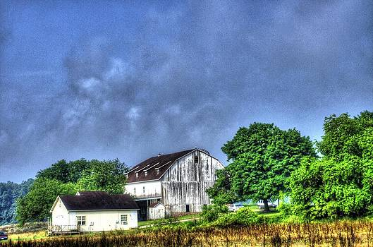 Old Barn with Milk House by Gordon H Rohrbaugh Jr
