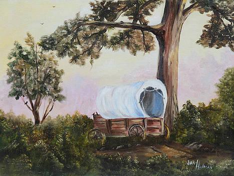 Old Buckboard by Jan Holman