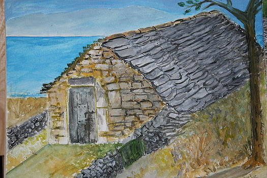 Old Dalmatian Stone House by Mladen Kandic