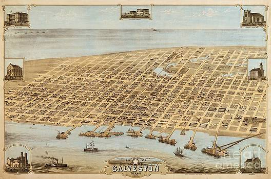 Reproduction - Old Galveston Map