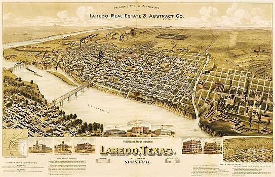 Reproduction - Old Laredo Map
