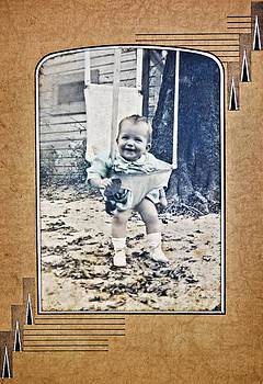 Old Photo of a Baby Outside by Susan Leggett