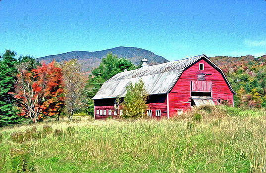 James Steele - Old Red Barn In Vermont