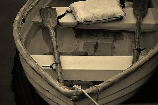 Paulette Thomas - Old Row Boat - Sepia