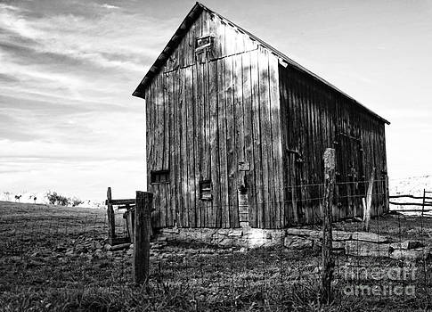 Kathleen K Parker - Old Rural Barn in West Virginia in black and white