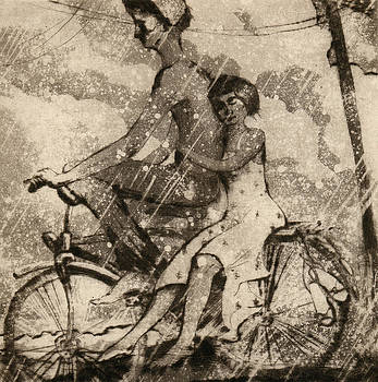 On a bicycle by Aleksey Zuev