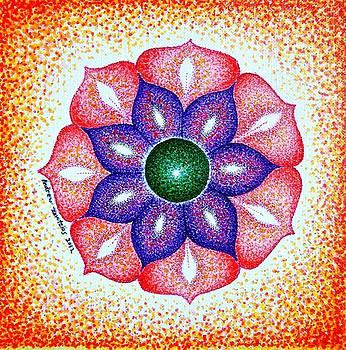 Open Heart Chakra Mandala by Andrew Zeutzius