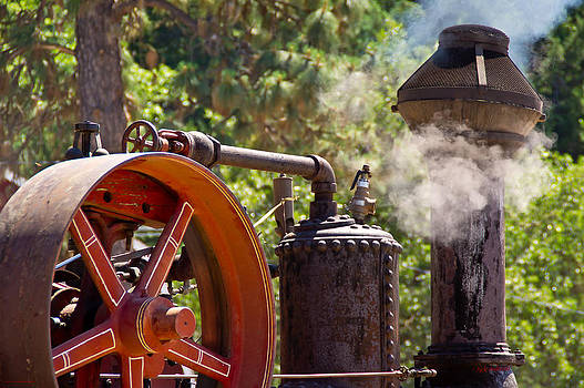 Mick Anderson - Operating Steam Tractor Detail
