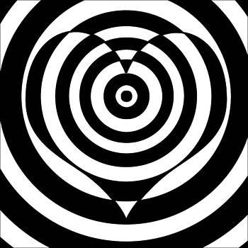 Optical Illusion Heart Art by Casino Artist
