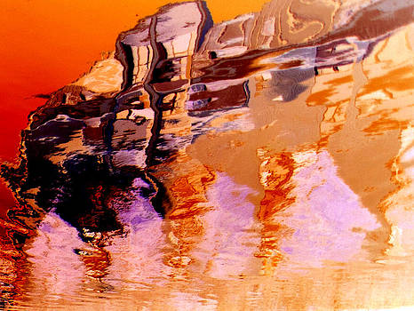 Orange abstract by Marlene Ford