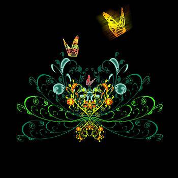 Svetlana Sewell - Orange Butterflies