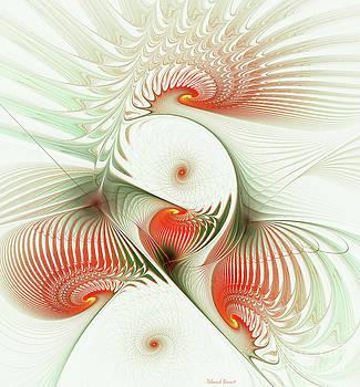 Deborah Benoit - Orange Fan Spirals