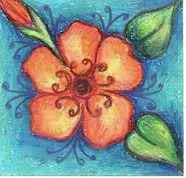 Orange Flower by Judith Correa