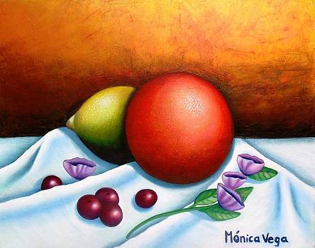 Orange Still Life  by Monica  Vega