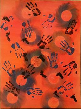 Orbs Hands Baby Feet by James Howard