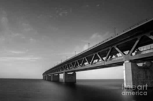 Oresund Bridge BW by Miso Jovicic