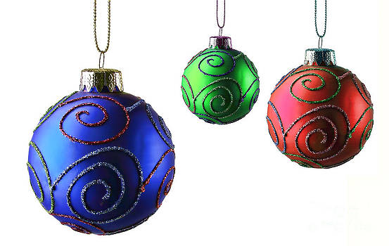Ornaments over white by Alan Crosthwaite