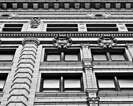 Ornate Building - Black and White by Alanna Pfeffer